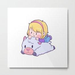 Girl loves Lama alpaca baby gift Metal Print