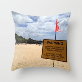 Waimea Bay, Hawaii Throw Pillow