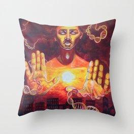 Karmic Burn Throw Pillow