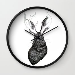 The Jackalope Wall Clock
