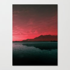RED SKY OVER LAKE Canvas Print