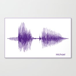Michael Purple Canvas Print