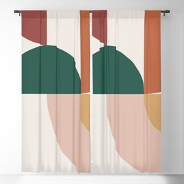 Abstract Geometric 12 Blackout Curtain