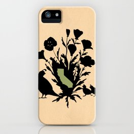 California - State Papercut Print iPhone Case