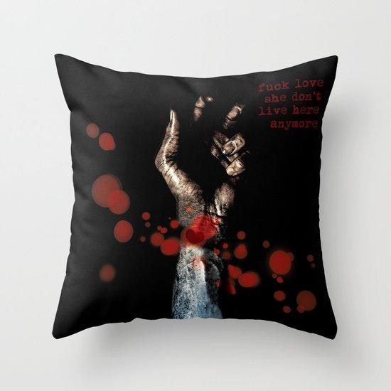 fuck love. Throw Pillow