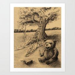 The Treehouse Art Print