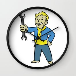 Vault Boy Mechanic Wall Clock