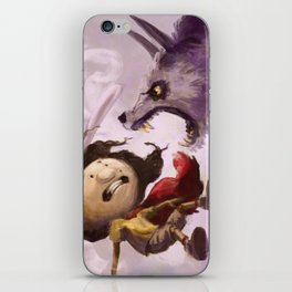 K'nayha and The Crow: Wolf Attack iPhone Skin