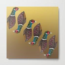 Pheasant Totem Metal Print
