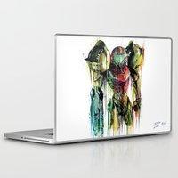 samus Laptop & iPad Skins featuring Samus Aran by David Lakin