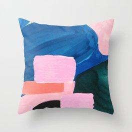 Mesozoic blocks Throw Pillow