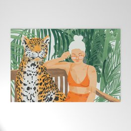 Jungle Vacay #painting #illustration Welcome Mat