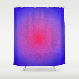 frayed puzzle, radial Shower Curtain