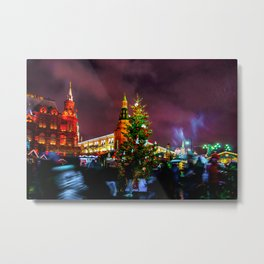 Christmas Fair On Manege Square Of Moscow City Metal Print