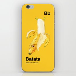 Bb - Batata // Half Bat, Half Banana iPhone Skin