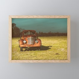 Lost In Time Truck Travel Framed Mini Art Print