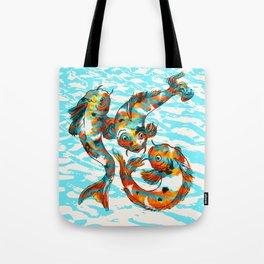 Three Koi Carp Tote Bag