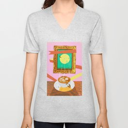 MOON COFFEE Unisex V-Neck