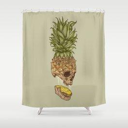 Pineapple Skull Shower Curtain