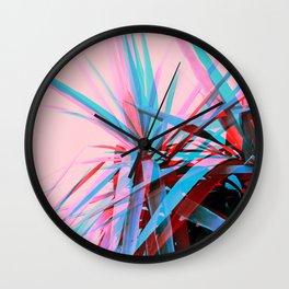 Duotone Palms Wall Clock