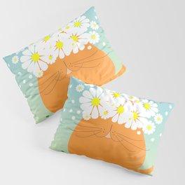 cat&flowers Pillow Sham