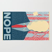 nope Area & Throw Rugs featuring Nope by DandyBerlin