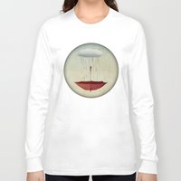 agnes Long Sleeve T-shirts featuring embracing the rain by Vin Zzep