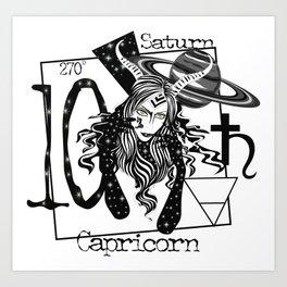 Capricorn - Zodiac Sign Art Print