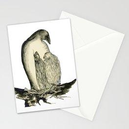 Bird Family on Nest Stationery Cards