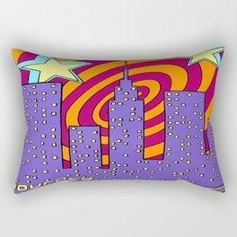 """""""Into the City"""" Rectangular Pillow"""