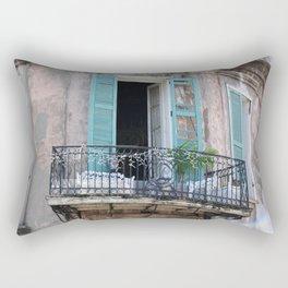 New Orleans French Quarter Balcony Rectangular Pillow