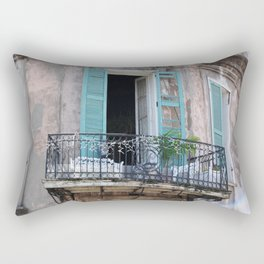 New Orleans French Quarter Balcony Rectangular Pillow