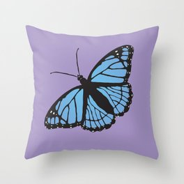Blue viceroy butterfly Throw Pillow