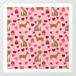 Chihuahua valentines day cute gift for pet lover toy small dog breed custom gifts by pet friendly Art Print