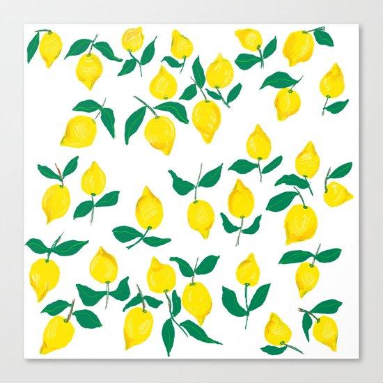 Lemons design 2 Canvas Print