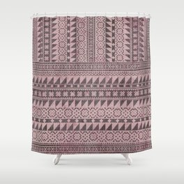 triangle kilim in pale pink Shower Curtain