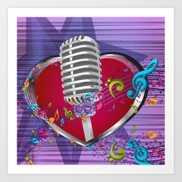 Music is from the heart Art Print
