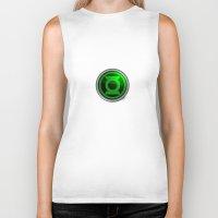 green lantern Biker Tanks featuring Green Lantern by Thorin
