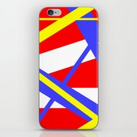bands iPhone & iPod Skins featuring Bands 2 retro stripes by Brian Raggatt