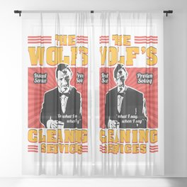 The Wolf - Pulp Fiction Sheer Curtain