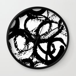 Dance Black and White Wall Clock