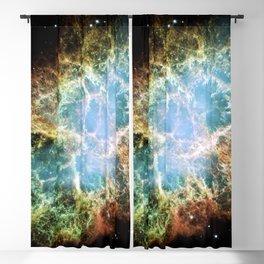 Hubble Telescope: Crab Nebula Blackout Curtain