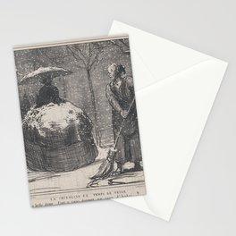 La crinoline en temps de neige, from Croquis d'Hiver, published in Le Charivari, November 13, 1858,N Stationery Cards