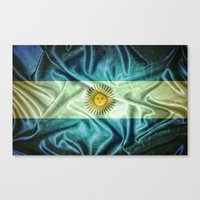 argentina Canvas Prints featuring Argentina flag. by DesignAstur