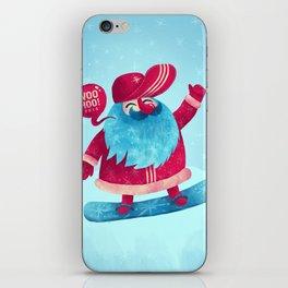 Snowboard Santa iPhone Skin