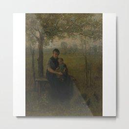 Jozef Israels 1824-1911 DUTCH THE MADONNA OF DRENTHE Metal Print