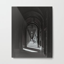 Arches of Dóm tér / Dom Square in Szeged, Hungary / B&W Metal Print