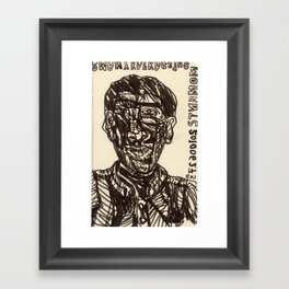 20100627 _2 MANY KAFKAESQUE MOMENTS _LHD Framed Art Print