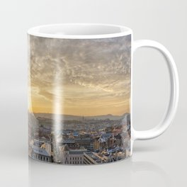 Golden sunset over Budapest Coffee Mug