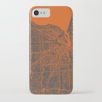detroit iPhone & iPod Cases featuring Detroit map by Map Map Maps